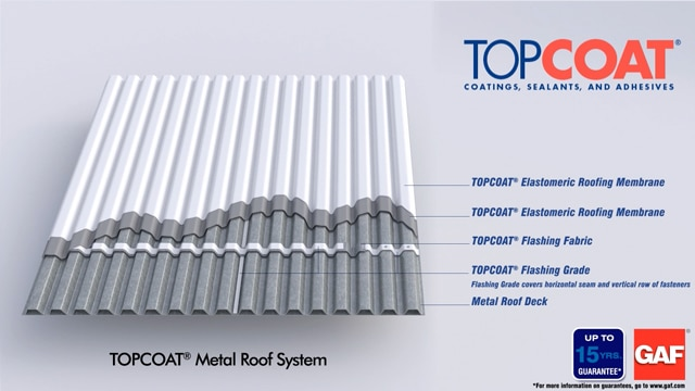 GAF Elastomeric Roofing, Replace Metal Roof, Roofing Services