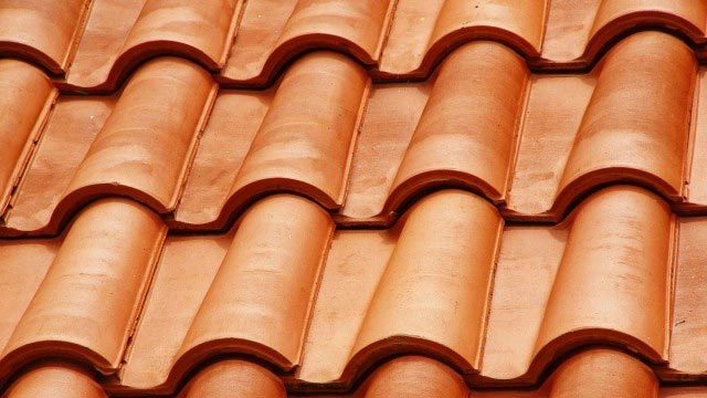 image of clay roofing shingles