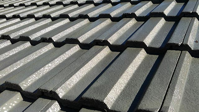 image of concrete roofing shingles